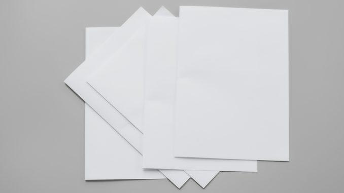 Verschiedene Papiersorten
